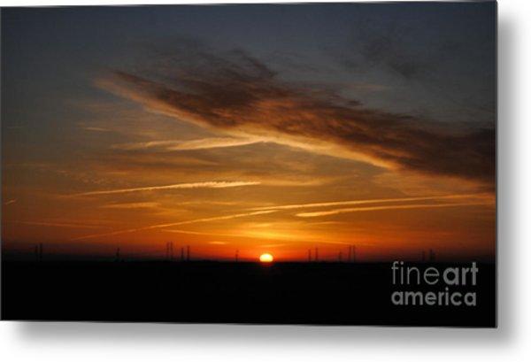 Sunrise On The 505 Metal Print