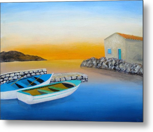 Sunrise On The Adriatic Metal Print