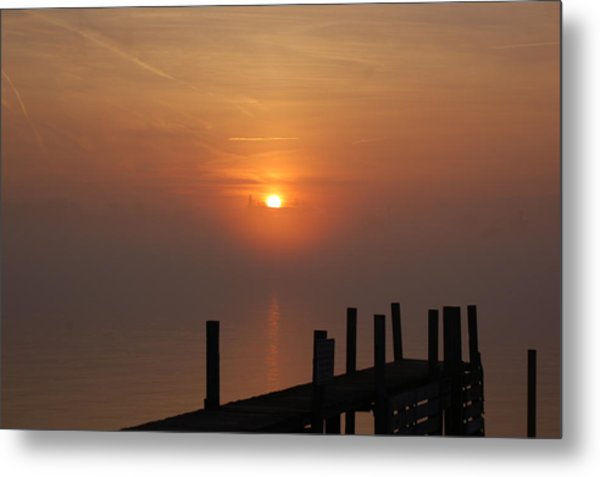 Sunrise On The River Metal Print