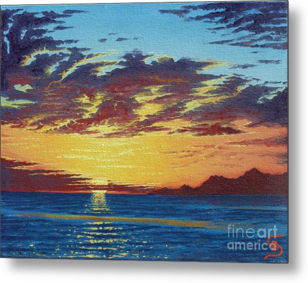 Sunrise Over Gonzaga Bay Metal Print