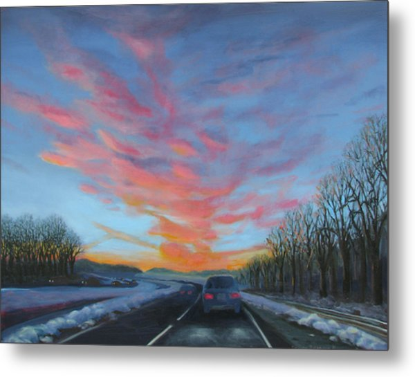 Sunrise Over The Highway Metal Print