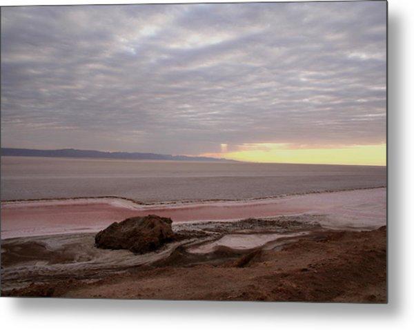 Sunrise Salt Lake - Tunisia  Metal Print by Simona  Mereu