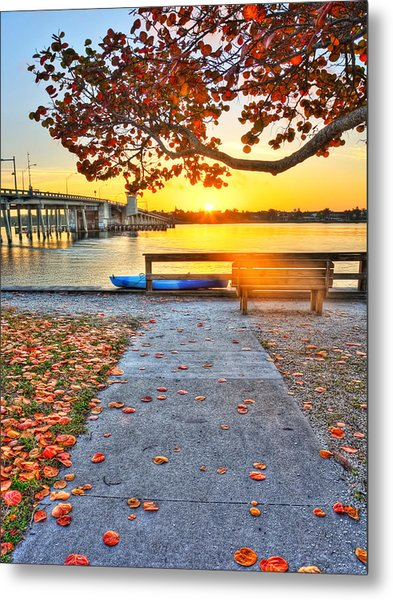 Sunrise Seista Drive2  Metal Print by Jenny Ellen Photography