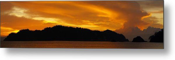 Sunscape Panorama  Curu National Wildlife Park Costa Rica Panorama Metal Print