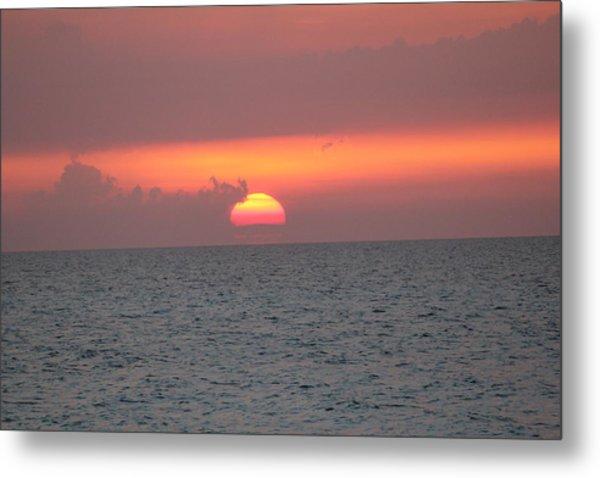 Sunset - Cuba Metal Print by David Grant