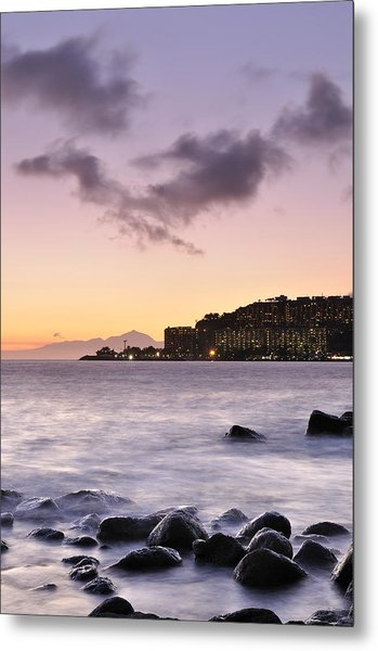 Sunset At Arguineguin Metal Print by Cristo Bolanos