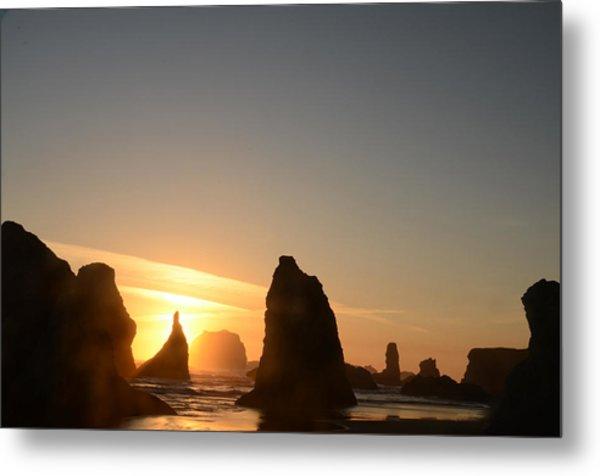 Sunset At Bandon Beach Metal Print