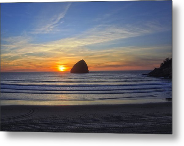 Sunset At Cape Kiwanda Oregon Metal Print