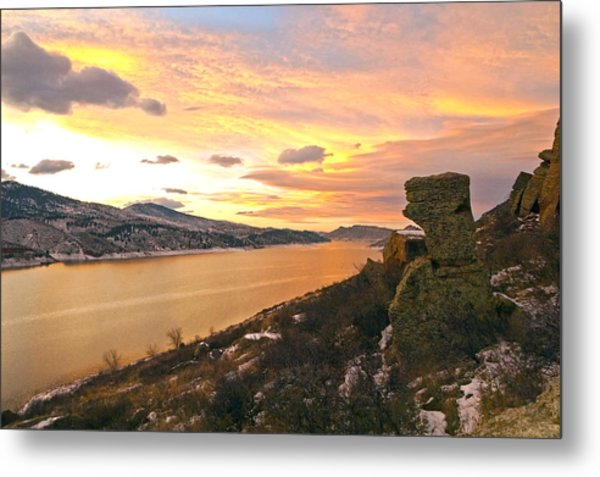 Sunset At Horsetooth Dam Co. Metal Print