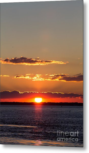 Sunset At Ir Metal Print