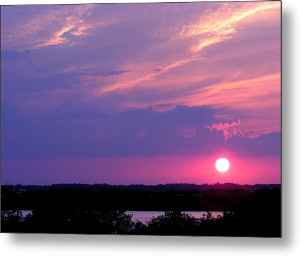 Metal Print featuring the photograph Sunset At Merritt Island by Grace Dillon