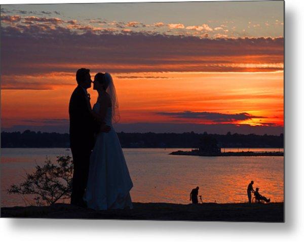 Sunset At Night A Wedding Delight Metal Print