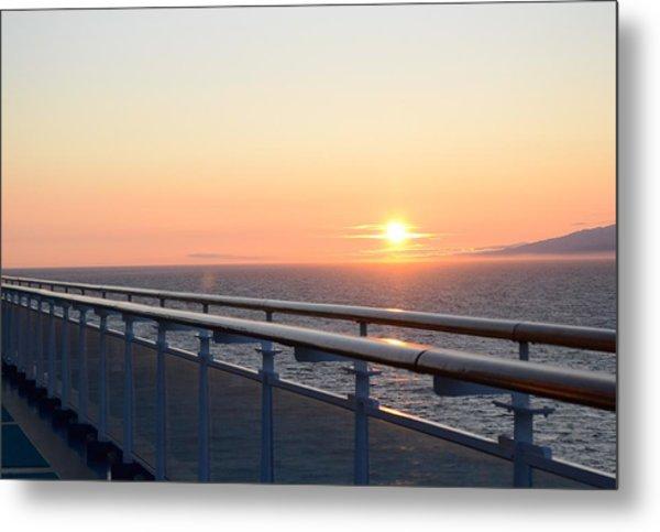 Sunset At Sea 2 Metal Print