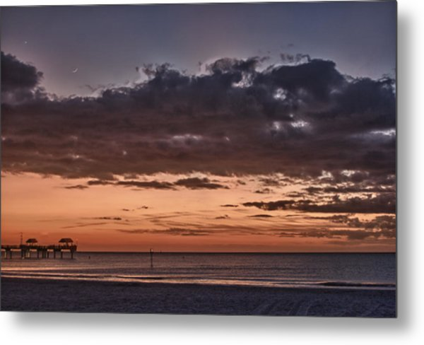 Sunset At The Beach Metal Print by Chuck Bowser