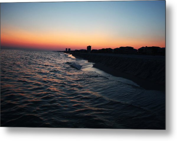 Sunset At The Gulf Shores Metal Print