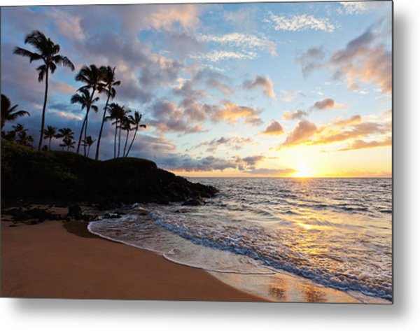 Sunset At Ulua Beach Metal Print