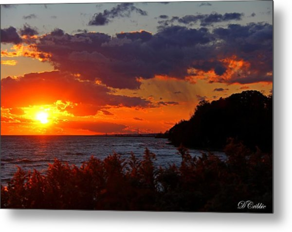 Sunset By The Beach Metal Print