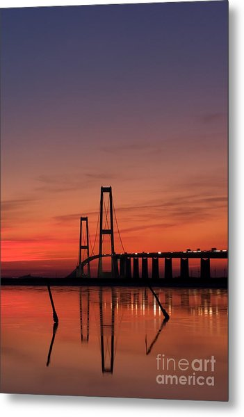 Sunset By The Bridge Metal Print