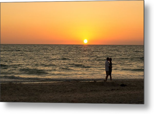 Sunset Embrace Metal Print
