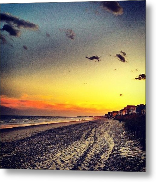#sunset #gardencity 🌞🏄 Metal Print