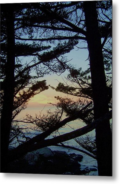 Sunset In Carmel Metal Print