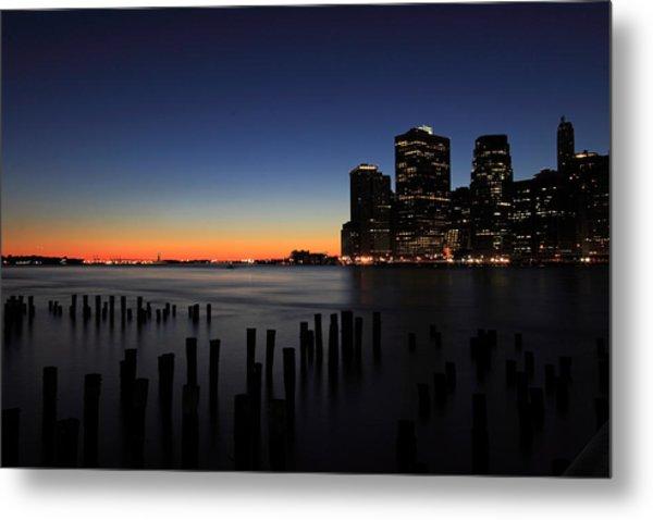 Sunset In Manhattan Metal Print by Kean Poh Chua