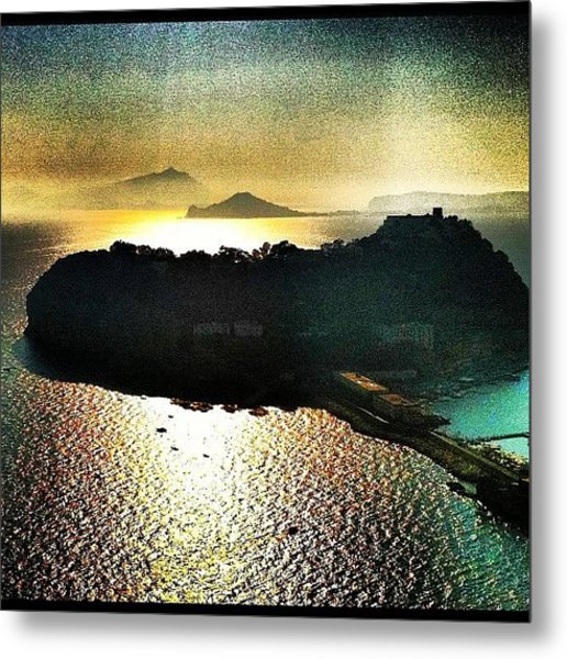 Sunset In Nisida Napoli Metal Print