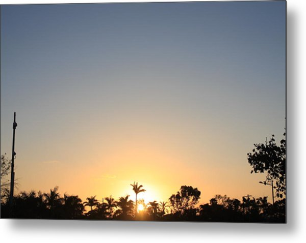Sunset In Paradise Metal Print by Nicholas Lowcock