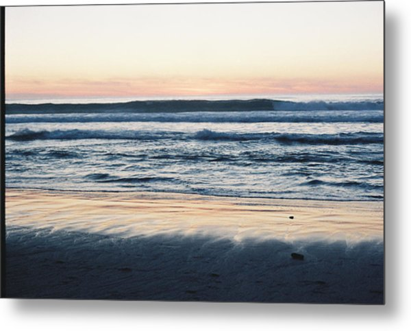 Sunset In Sand Metal Print by Trent Mallett