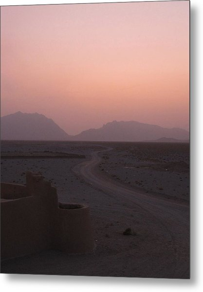 Sunset In The Persian Desert Metal Print by Tia Anderson-Esguerra