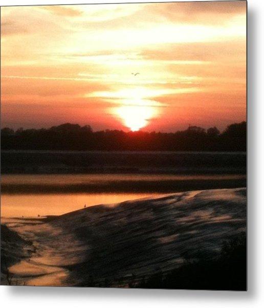 Sunset, King's Lynn Docks - No Filter Metal Print