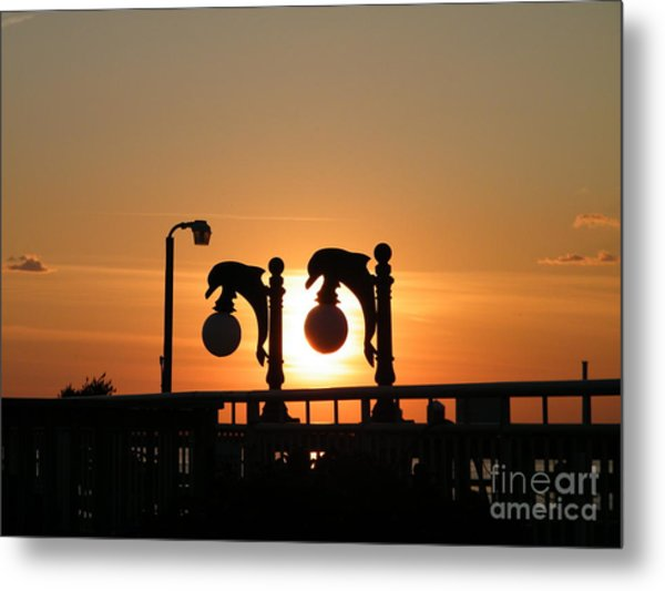 Sunset Lamps R Metal Print by Laurence Oliver
