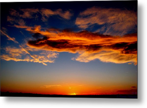 Sunset Layers Metal Print by Aaron Burrows
