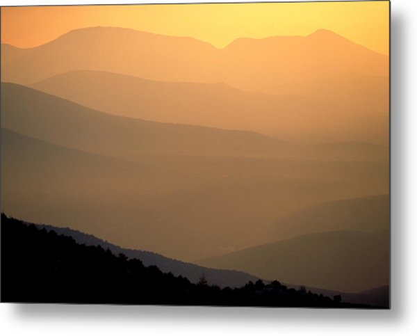 Sunset Layers Metal Print