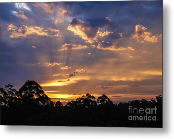 Sunset Lightstreams 1 Metal Print