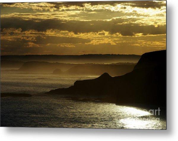 Sunset Mist Metal Print