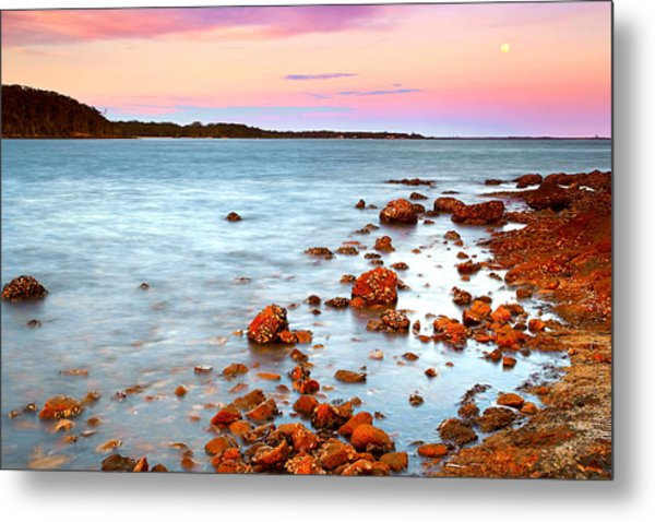 Sunset Moon Metal Print