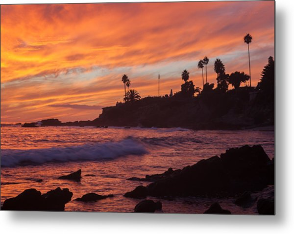 Sunset Off Laguna Beach Metal Print