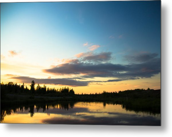 Sunset On A Lake Metal Print