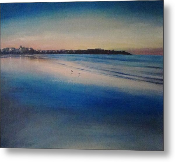 Sunset On Hampton Beach Metal Print by Mark Haley