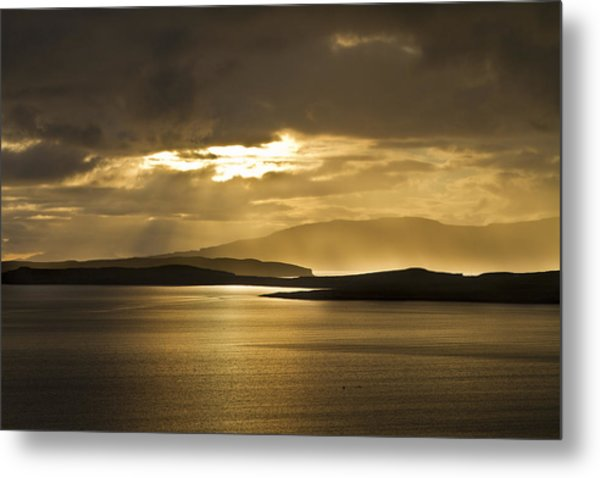 Sunset On Skye Metal Print