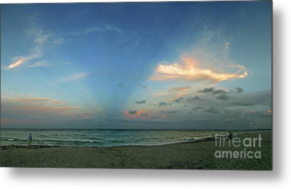 Sunset On The Atlantic Ocean Metal Print by Richard Nickson