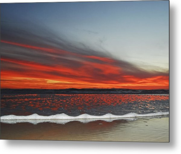 Sunset On The Edge Metal Print