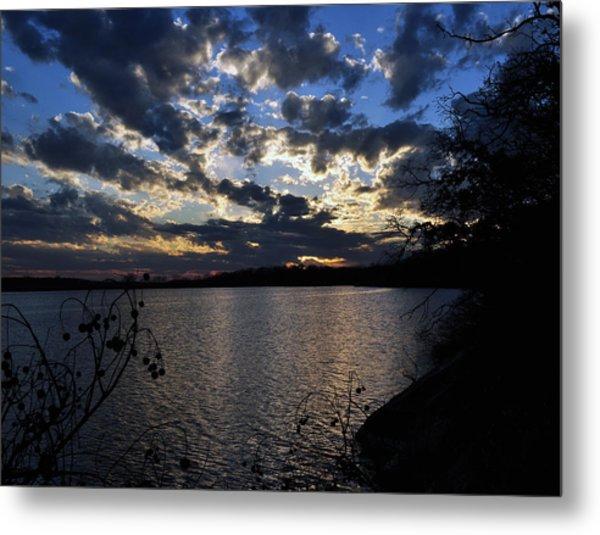 Sunset On The Lake Metal Print by Timothy Johnson