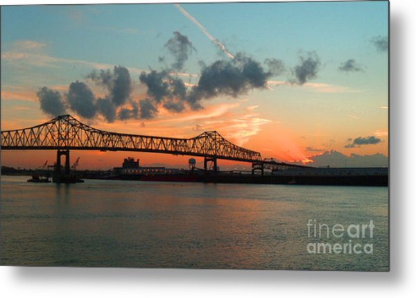 Sunset On The Mississippi  Metal Print