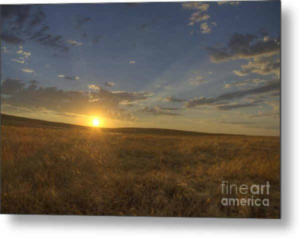 Sunset On The Prairie Metal Print