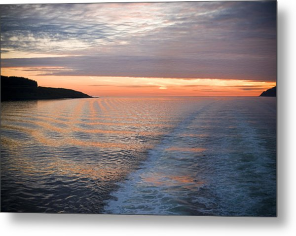 Sunset On The Sound Of Mull Metal Print