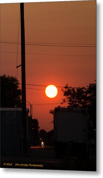 Sunset On The Up Metal Print by Dan Crosby