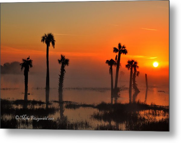 Sunset On Viera Wetlands Metal Print