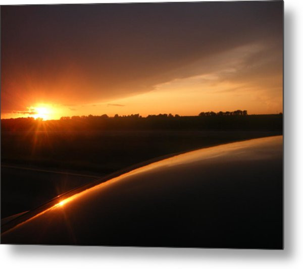 Sunset Out West Metal Print by Katy Irene